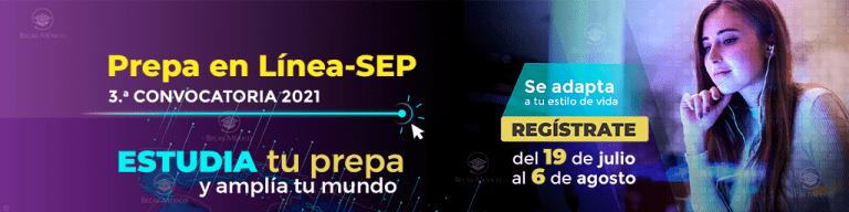 3ra Convocatoria Prepa en Línea SEP 2021